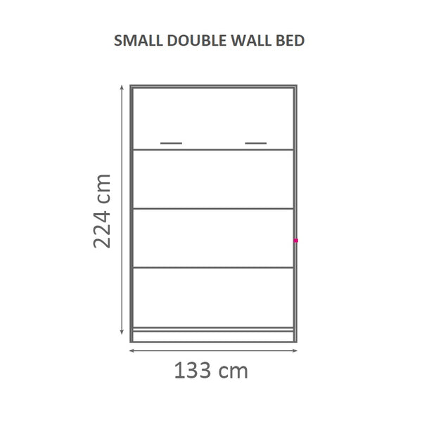small double wall bed