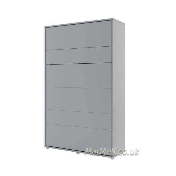 small double vertical wall bed grey