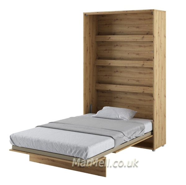 small double vertical wall bed, fold - down bed, Murphy bed, Space Saving Bed, Hidden bed