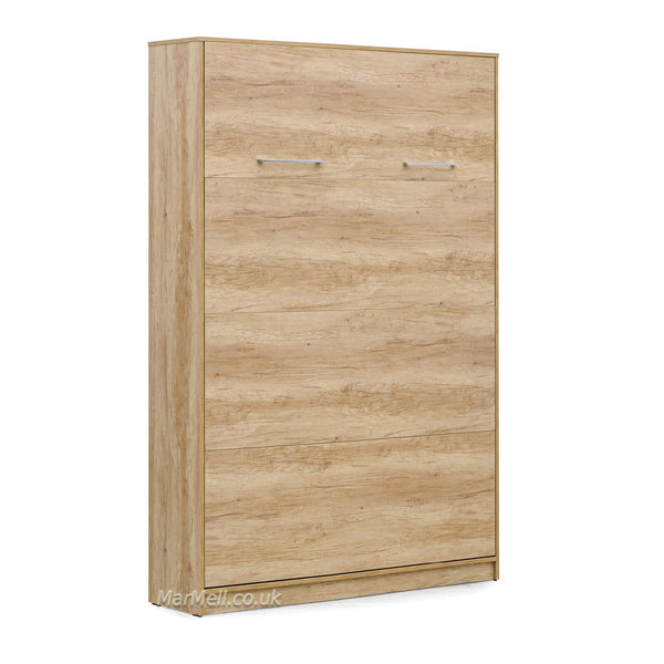 small double vertical wall bed oak nebrasca Murphy bed folding bed space saving bed