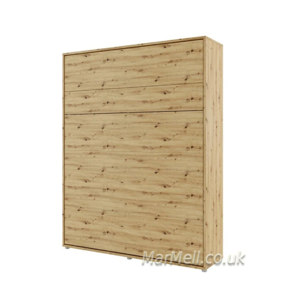 super king size wall bed 180cm Murphy bed space saving bed oak