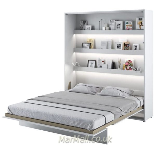 super king size wall bed 180cm Murphy bed space saving bed white open