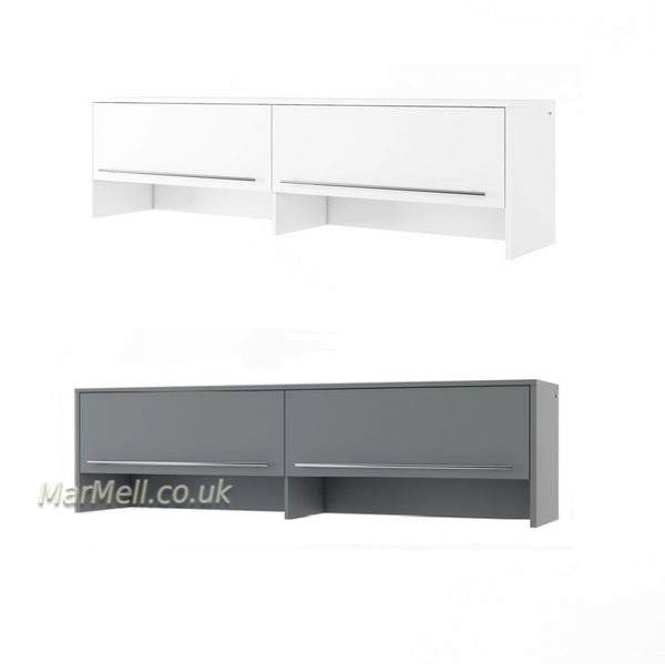 top cabinet, over bed unit for horizontal wall bed, murphy bed, space saving bed