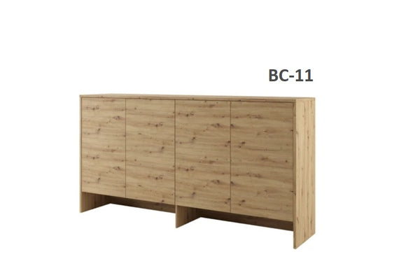 top cabinet storage over bed unit for single wall bed Murphy bed top cabinet oak marmell