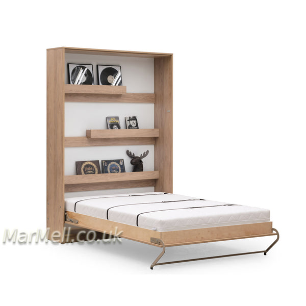 vertical wall bed, murphy bed, hidden bed, space saving bed, folding bed, multifunctional bed