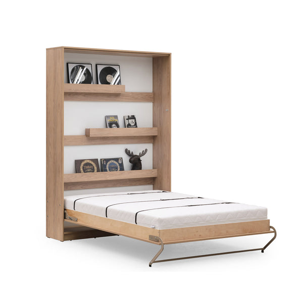vertical double wall bed, Murphy bed, space saving bed, folding bed