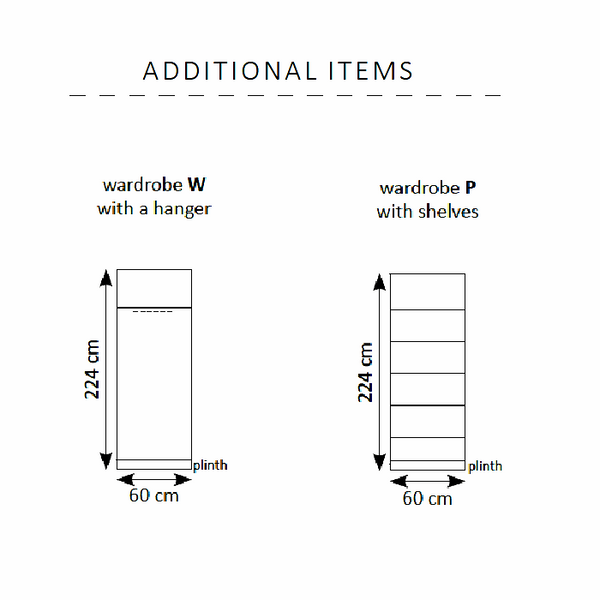 vertical wall bed additional items-dimensions