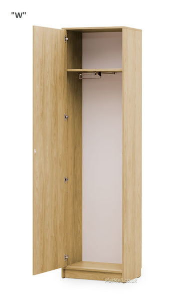 wardrobe cabinet with hanger and shelf for wall beds marmell oak open
