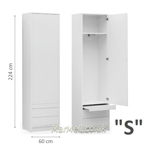 wardrobe side cabinet with a little table hanger drawers for wall beds marmell