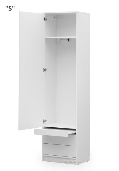 white cabinet with a little table for wall beds marmell