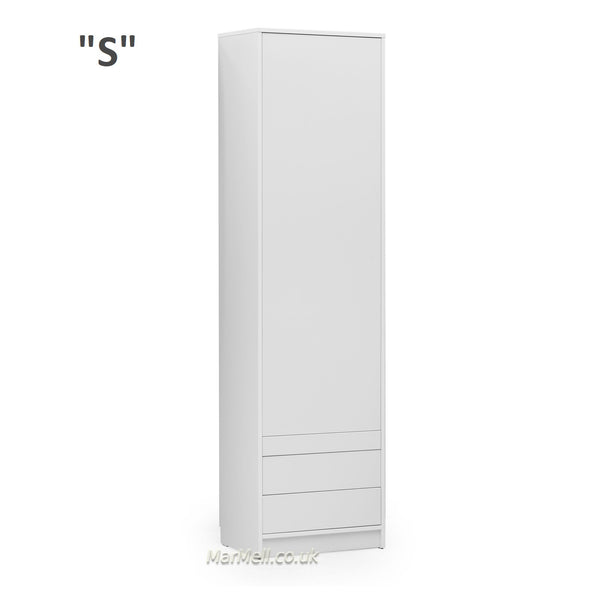 white wardrobe side cabinet with a little table hanger drawers for wall beds marmell