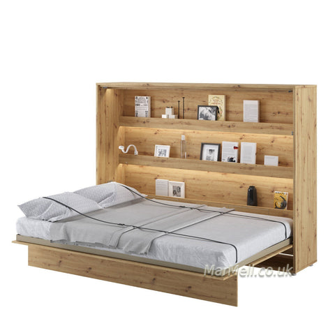 horizontal double wall bed, multifunctional bed,  fold - down Murphy Bed Space Saving Bed, hidden bed