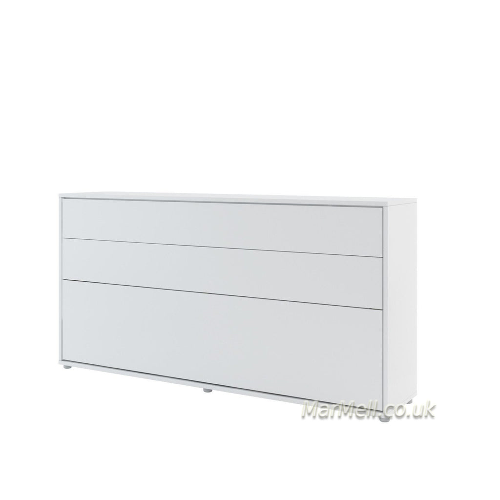 single horizontal wall bed white
