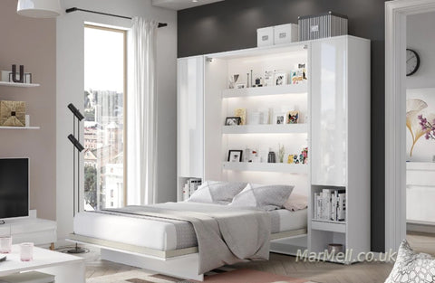 vertical wall bed fold-down bed with cabinets Murphy bed