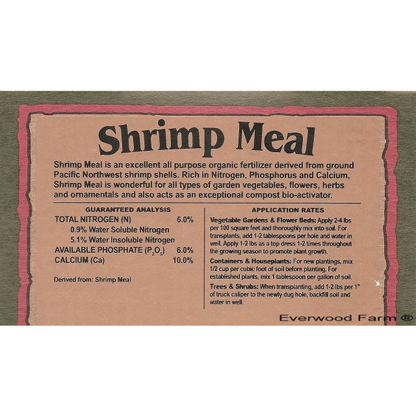 Down to Earth Shrimp Meal 6-6-0, 2 Pounds