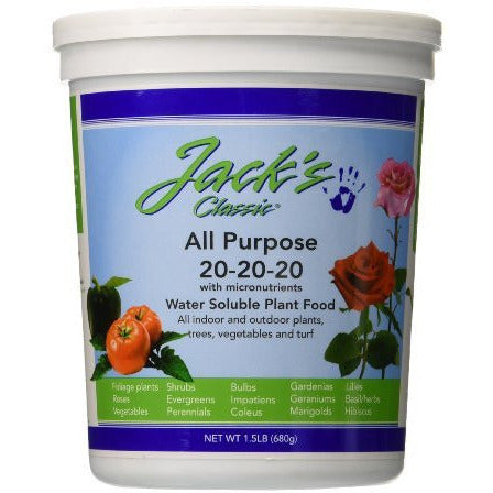 Jack's Classic All Purpose, 1.5 Pounds - Grow Nutrients - Rogue Hydro - 2