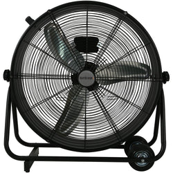 Hurricane Pro 24-Inch High Velocity Metal Drum Fan - Floor Fan - Rogue Hydro - 1