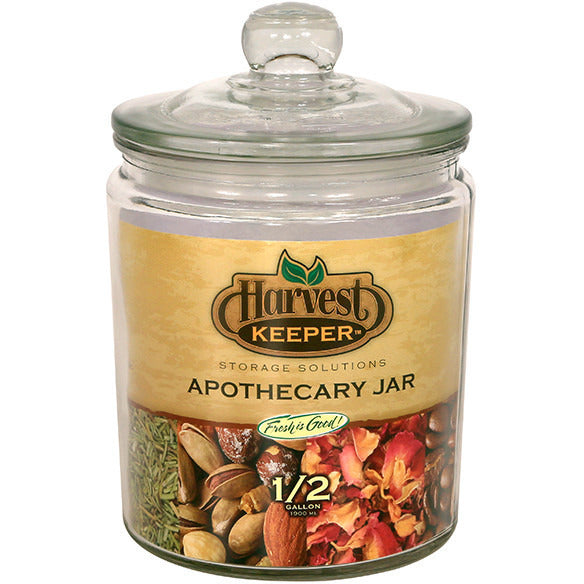 Harvest Keeper Glass Storage Apothecary Jars w/ Sealed Lid