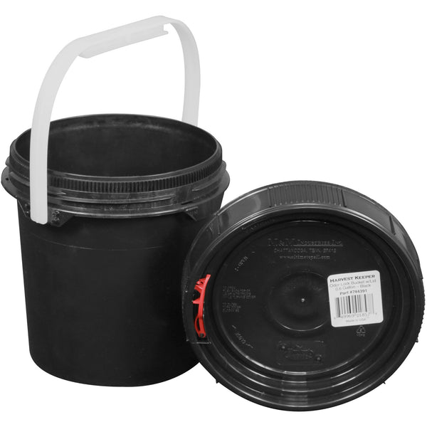 Harvest Keeper Spin Lock Buckets with Lid – Black - Storage Container - Rogue Hydro - 2