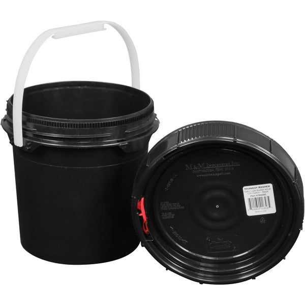 Harvest Keeper Spin Lock Buckets with Lid – Black - Storage Container - Rogue Hydro - 3