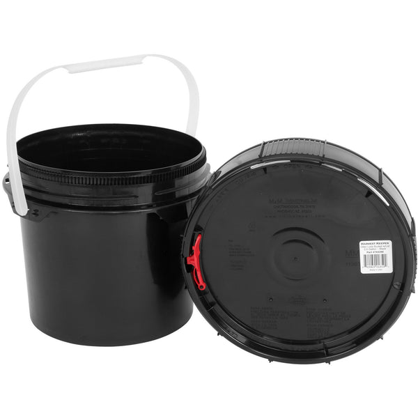 Harvest Keeper Spin Lock Buckets with Lid – Black - Storage Container - Rogue Hydro - 4