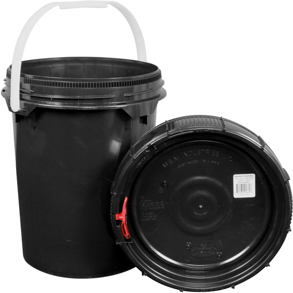 Harvest Keeper Spin Lock Buckets with Lid – Black - Storage Container - Rogue Hydro - 5