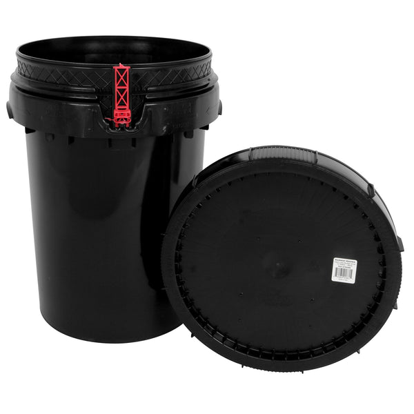 Harvest Keeper Spin Lock Buckets with Lid – Black - Storage Container - Rogue Hydro - 6