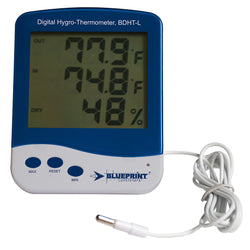Blueprint Digital Min/Max Hygro-Thermometer, Large - Thermometer - Rogue Hydro