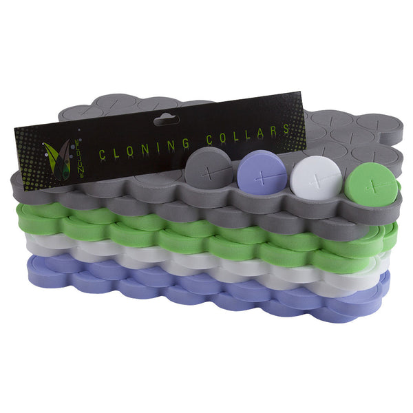 EZ-Clone Color Coded Cloning Collars, 35 Pack - Neoprene Inserts - Rogue Hydro - 1