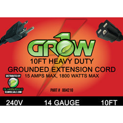 Grow1 240V 14 Gauge Power Cord Extensions - Power Cord Extension - Rogue Hydro - 1