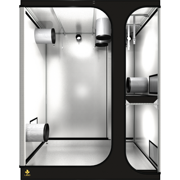 Secret Jardin Lodge 160 v2.6 L160 4x5x6.75 2 Station Grow Tent - Two-Station Grow Tent - Rogue Hydro - 1