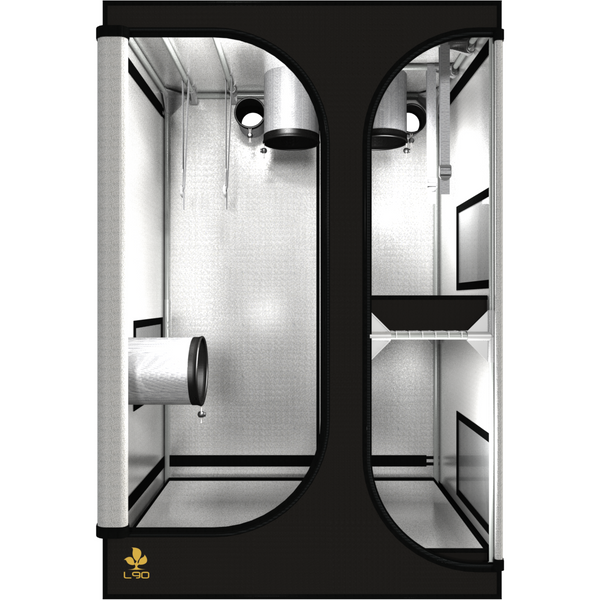 Secret Jardin Lodge 90 v2.6 L90 2x3x4.4 2 Station Grow Tent - Two-Station Grow Tent - Rogue Hydro - 5