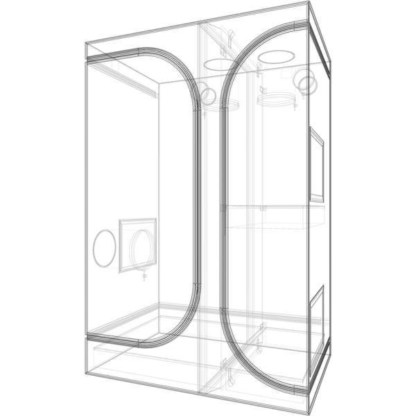 Secret Jardin Lodge 90 v2.6 L90 2x3x4.4 2 Station Grow Tent - Two-Station Grow Tent - Rogue Hydro - 6