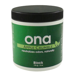 ONA Block Apple Crumble, 6 Ounces - Deodorizer Block - Rogue Hydro - 1