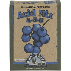 Down To Earth Acid Mix 4-3-6, 1 Pound - Acidic Plant Fertilizer - Rogue Hydro