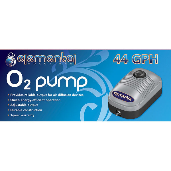 Elemental O2 Air Pump, 44 gph - Air Pumps - Rogue Hydro - 2