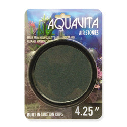 "Aqua O2 4.25"" Round Air Stone w/Suction cups"