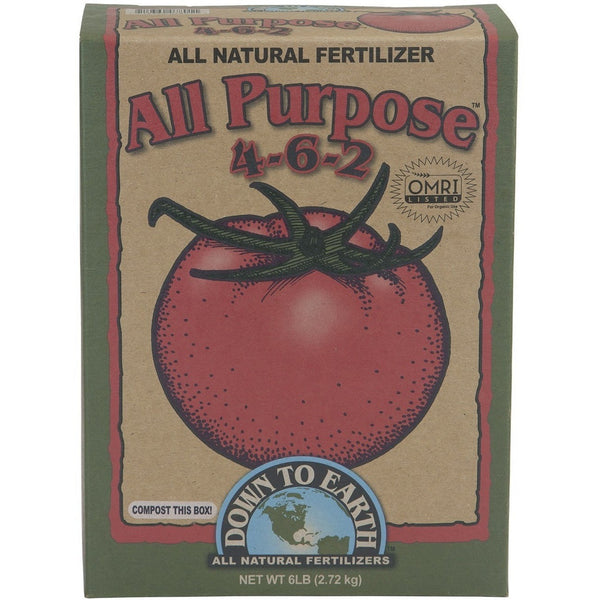 Down To Earth All Purpose Mix 4-6-2, 6 Pounds - All-Purpose Fertilizer - Rogue Hydro