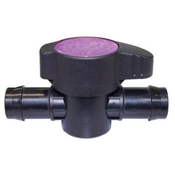 "Antelco Purple Back Valve 1/2"" 13mm Barbs - Ball Valve - Rogue Hydro - 1"