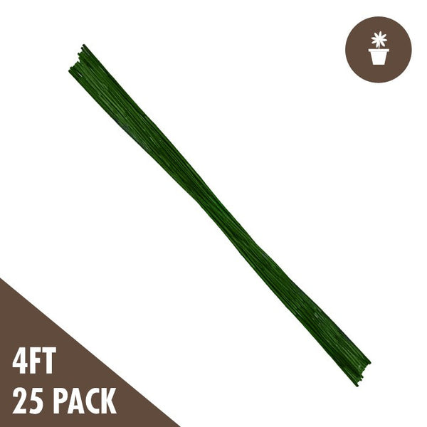 4 Foot Green Bamboo Stakes Duty, 25 Pack - Bamboo Stakes - Rogue Hydro - 1