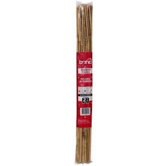 Bond 2 Foot Natural Bamboo Stakes, 25 Pack - Bamboo Stakes - Rogue Hydro
