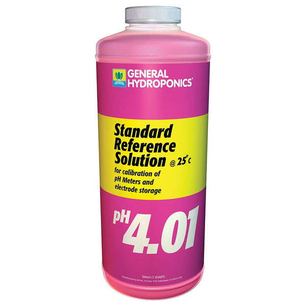 General Hydroponics pH Calibration 4.01 Solution, 1 Quart