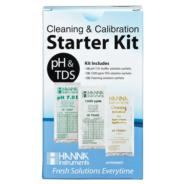 Hanna Solution Starter Kit (pH, TDS & Cleaning) - Calibration Solution - Rogue Hydro