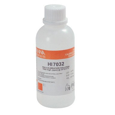 Hanna TDS Calibration Solution HI 7032, 1382 ppm, 230 ml - Calibration Solution - Rogue Hydro