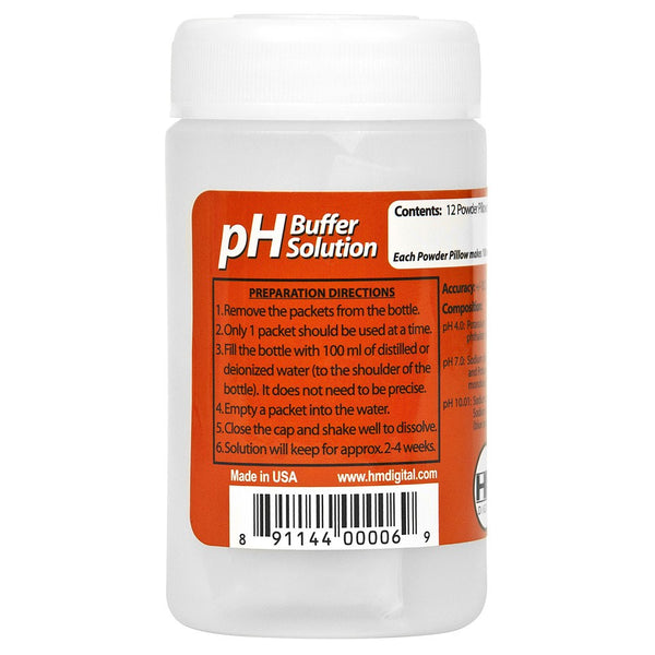 HM Digital pH Buffer Solution Powder Variety 12 Pack - Calibration Solution - Rogue Hydro