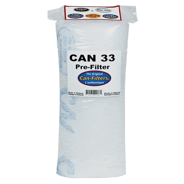 Can-Filter 33 Pre-Filter, 200 cfm - Carbon Filter Pre-Filter - Rogue Hydro