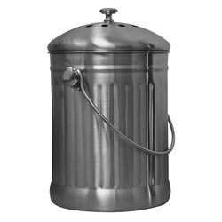 Sunleaves Stainless Steel Compost Can, 1.1 Gallon - Composter - Rogue Hydro