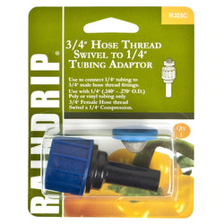 "Raindrip Hose Swivel, 3/4"" w 1/4"" Compression Adaptor - Compression Fitting - Rogue Hydro"