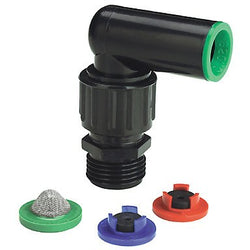 "Raindrip Swivel Elbow Assembly for 1/2"" and 3/4"" Riser, Single - Compression Fitting - Rogue Hydro"