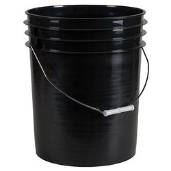 5 Gallon Bucket, Black - Containers - Rogue Hydro